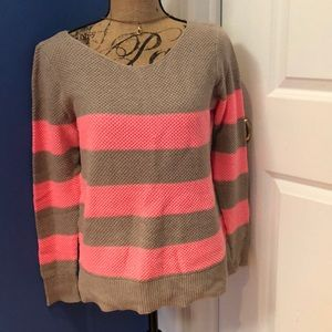 Gap Beige and Pink Sweater